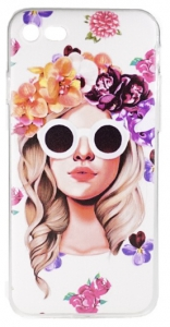Glass Girl iPhone 8 Cover