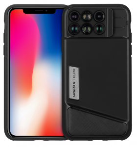 Momax - X-Lens Case 6 in 1 for iPhone X - Black