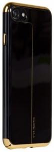 Viva Madrid Back Case (Electroplated PC Case) - Esbelto Collection iPhone 7 (Ebony - Horizontal Lines)