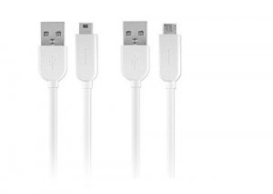 Philips Two Cables in One Mini USB & Micro USB - White