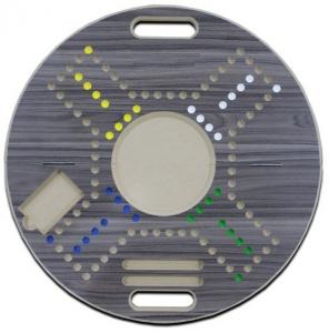 Jackaro for 4 Players Circle Shape Foldable - Gray