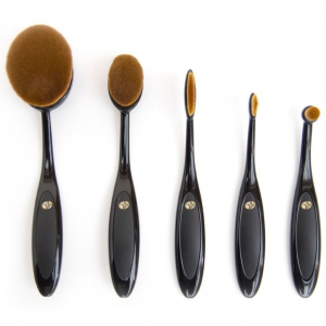 Rio Essential Microfibre Professional Oval Cosmetic Brush Collection