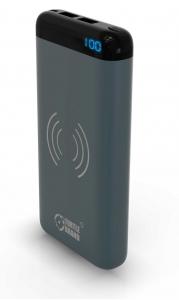 Turtle Brand 10000mah Dual USB Wireless Powerbank-Gray