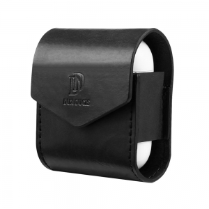 Dux Ducis Leather Airpods Case - Black