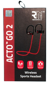 Revomech Wireless Headphones - ACTO GO (2) - Black/Red
