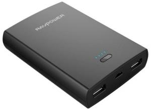 RAVPower Power Bank Basis 10400mAh SB Portable iSmart - Black