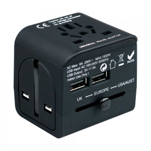 Porodo Travel Adapter with Dual USB Charger 3.4A
