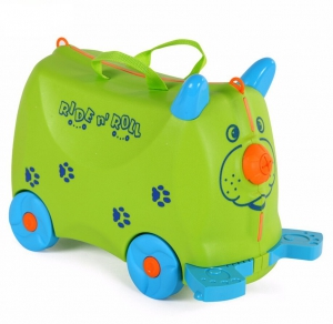 Children Travel Box Bag On Wheels & Ride-On Bike