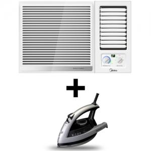 Midea Window AC - 12000 BTU + Panasonic Steam Iron - 2200W