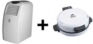 TCL Portable AC - 20000 BTU + Orca Bread Maker -1800W - White