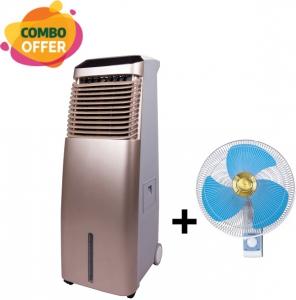 "Orca Air Cooler - 30 Liter + Panasonic Wall Fan - 16"""