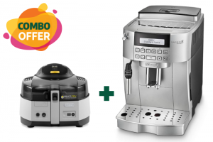 Delonghi Coffee Maker - ECAM22 + Delonghi Classic Fryer & Multi-cooker