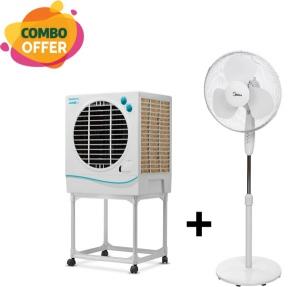 "Symphony Jumbo Jr. Air Coolers - 22 liter + Midea Stand Fan - 16"""