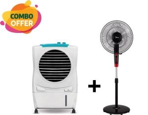 "Symphony Air Cooler 17 Liter + Midea Fan Stand 16"""