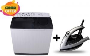 Media Washing Machine Twin Tub 13/8 Kg + Panasonic Steam Iron 2200W