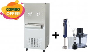 Orca 2 Tap 38 Liters Water Cooler Stainless Steel + Orca 2 Speed Hand Blender - 600W
