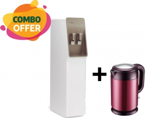 Orca Water Dispenser - 2 Tap H&C + Midea Cool Touch Electric Kettle - 1.7 L