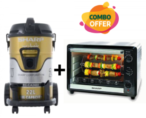 Sharp Drum Vacuum Cleaner + Oven Grill - Rotisserie 60L- 2000W