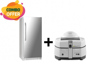 White Westinghouse No Frost Refrigerator + DeLonghi Young 1.5 Kg Low-Oil Fryer & Multi Cooker