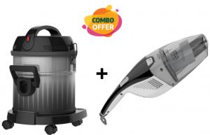 Midea Drum Vacuum Cleaner - 1600W + Handheld Cordless Vaccum Cleaner - 7.2V