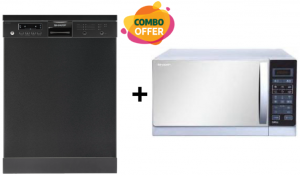 Sharp 8 Programs Dishwasher + Microwave Oven - 25L- 900W