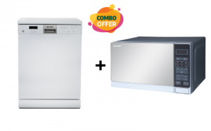Sharp Dish Washer + 20 Liters Microwave Oven