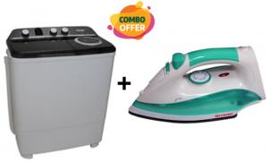 Sharp 7 KG Twin Tub Washing Machine + Steam Iron
