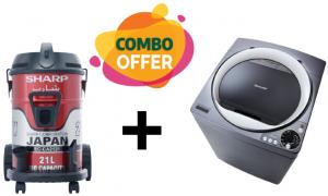 Sharp Top Loading Washing Machine + Drum Vaccum Cleaner