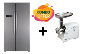 Sharp Side by Side Refrigerator +  Panasonic  Meat Grinder