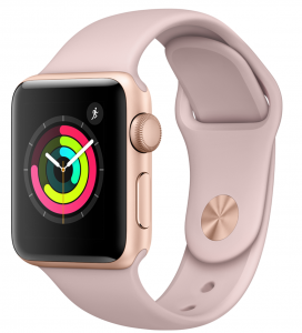 Apple Watch Series 3 GPS 42mm Gold Aluminium Case with Pink Sand Sport Band - AP1MQL22