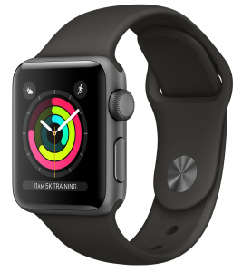 Apple - Watch Series 3 GPS 42mm Space Grey Aluminium Case with Grey Sport Band - AP1MR362