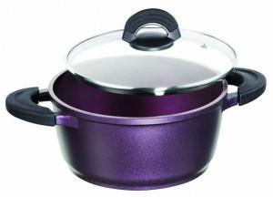 Stoneline Impera Cooking Pot 20cm Aubergine Purple - WX15348