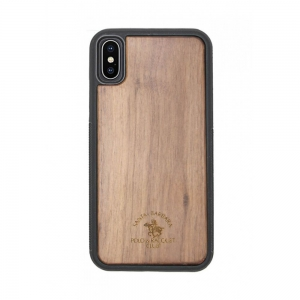 Santa Barara Polo and Racquet Timber Back Cover for iPhone X - CHE