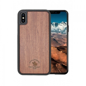 Santa Barara Polo and Racquet Timber Back Cover for iPhone X -WLN