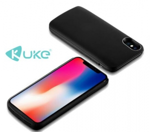 Kuke 3600mAh BatteryCase For IPhone X Black