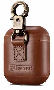 I-Carer Airpods Leather Case with Hook