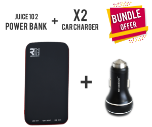 Revomech JUICE 10 2 Power Bank + Car Charger X2