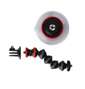 Joby Suction Cup & Gorillapod - ARM BLACK/RED