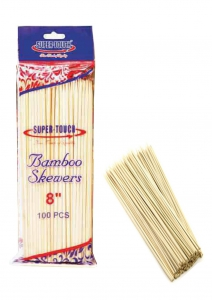 Super-Touch Bamboo Looped Up Skewers 8""
