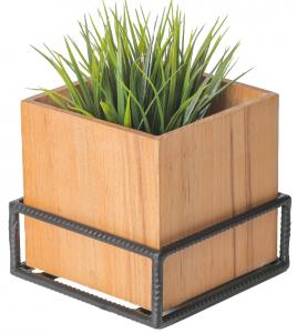 Natural Wood Box Planter