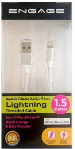 Engage Thread Lightning Cable 1.5m (White)