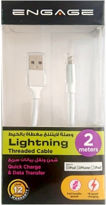 Engage Thread Lightning Cable 2m (White)