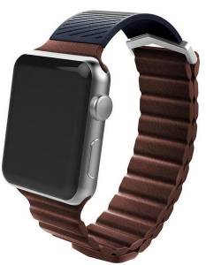 X-Doria Hybrid Leather Band 42mm Case For Apple Watch - Brown