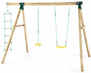 Plum Macaque Wooden Swing Set 27521