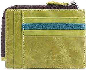Teemzone Unisex Genuine Leather Simple Wallet Green Color - K840