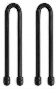 "Nite Ize - Gear Tie 6"" Reusable Rubber Cable Twist Ties - Pack of 2 (Black)"