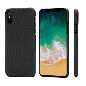 Pitaka - Aramid Case for iPhone XS - Black/Grey Twill