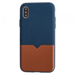Evutec iPhone XS case Northill - Blue Saddle with Vent Mount