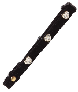 Pawise Cat Collar Diamond Heart, Black