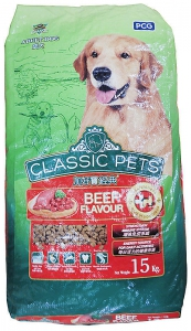 PCG Classic Pets Adult Dog Food Beef - 15Kg